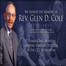 Funeral in Honor of the Memory of Rev. Glen D. Cole