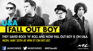 U and A with Fall Out Boy