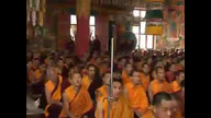 His Holiness Drubwang Pema Norbu Rinpoche Holy body is placed on the throne, listen and you can hear the birds sing!