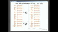 Quiniela Matutina de San Luis N° 3001 27-06-2017