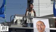 2018/03/31京都府知事選「福ちゃんと歩こう!!三条ウォーク」