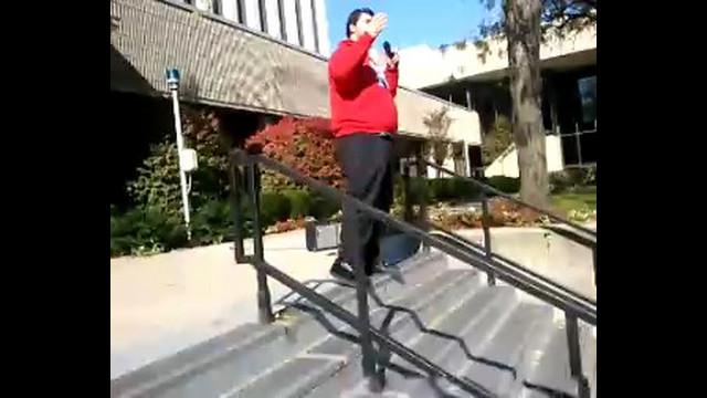 Occupy Rutgers Newark Teach with SGA President Cabo Granato