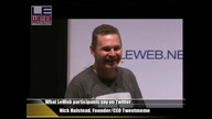 What LeWeb participants say on Twitter with Nick Halstead, Founder & CEO Tweetmeme & Founder, Favori