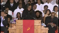 Whitney Houston Mourned at her home going ceremony
