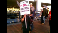 Occupy long beach at hyatt hotel 2