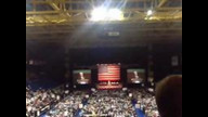 Newt Gingrich gets booed by Ron Paul supportersd in GA for Romney sticker and then get told they MUST support Romney