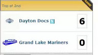 Dayton Docs 10, Grand Lake Mariners 0