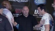 Silva vs Sonnen press conference faceoff