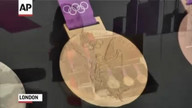 2012 London Olympic medals on display