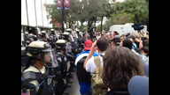 Dueling police and protestor cameras at RNC protest