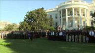 Obama holds moment of silence to mark 9/11