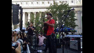 Tom Morello takes the stage at Occupy Wall Street