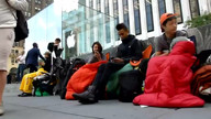 Early birds line up to buy iPhone ... Friday