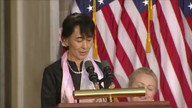 Myanmar opposition leader honored by Congress
