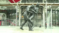 Zidane headbutt immortalized in statue