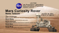 NASA Mars Rover News: Oct. 30