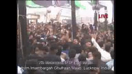 LIVE Telecast of 7th Muharram 1434 Hijri Majlis from Imambargah Ghufraan Maab, Lucknow, India, Taboo