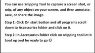 How to make a the snipping tool