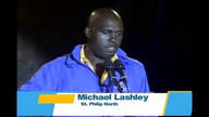 Michael Lashley at the DLP's final rally