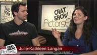 Alex Ballar and Beau Nelson with Host Julie Kathleen Langan on ActorsE