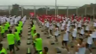 Guinness World Record attempt: Prisoner dancing in Peru