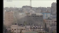 Airstrike On Building In Gaza 5:45pm/10:55am est