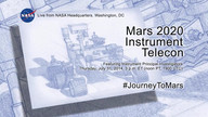 Mars 2020 Instrument Telecon
