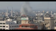 Airstrike on Gaza City 8:47am