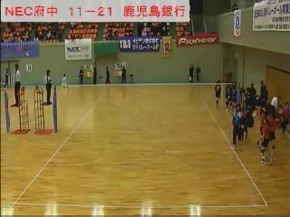 NEC府中 対 鹿児島銀行 櫻田記念