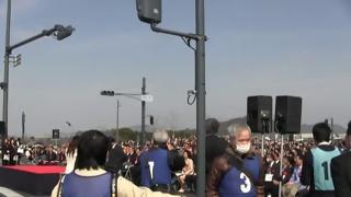 各務原大橋開通記念(2)開通式典 親柱親柱除幕