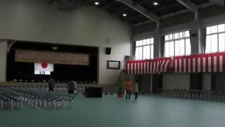 羽黒小学校新体育館内覧会