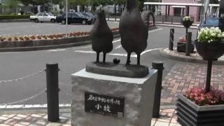 春日井100キロWalkコース余話(53) 小牧城名鉄小牧駅前風景