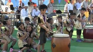 羽黒の夏祭り(3)和太鼓・羽黒児童セン