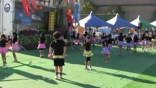 羽黒の夏祭り(4)バトン・羽黒児童セン