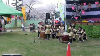 羽黒の桜まつり3・和太鼓演奏・羽黒児童センタ